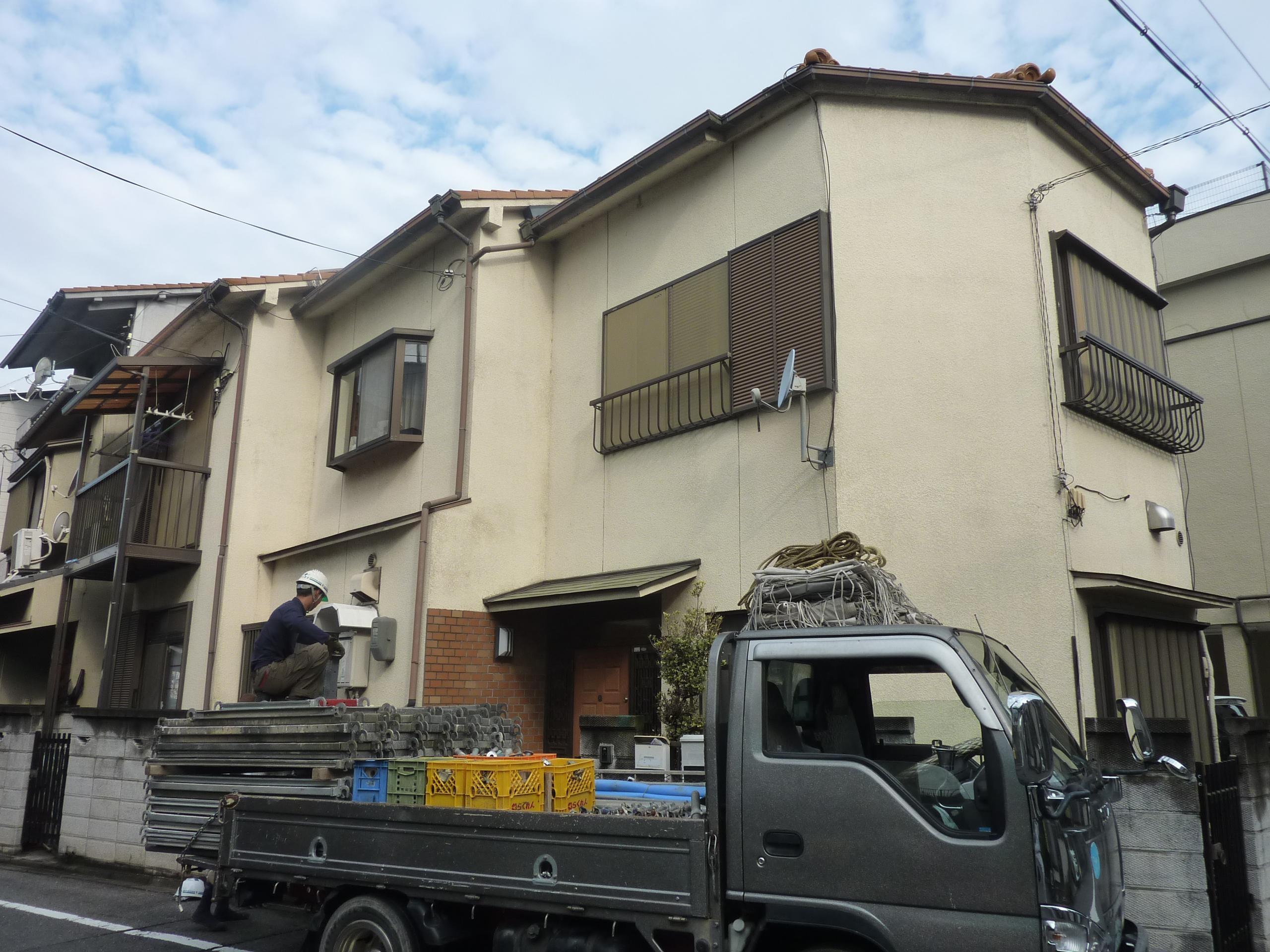 京都市南区-外壁塗装工事